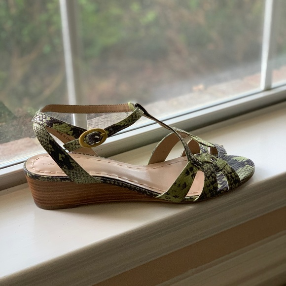 Tahari Shoes - Beautiful snake skin pattern kitten wedge sandal